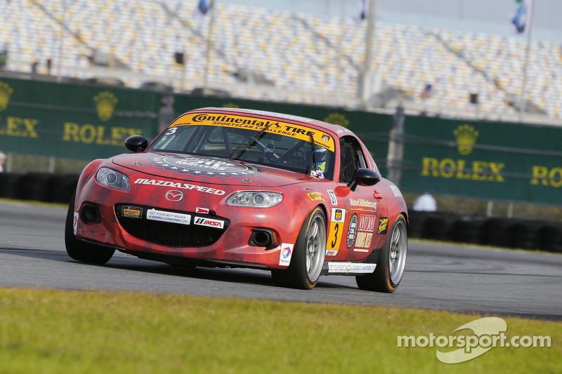 #3 CJ Wilson Racing, Mazda MX-5: Tyler McQuarrie, Marc Miller