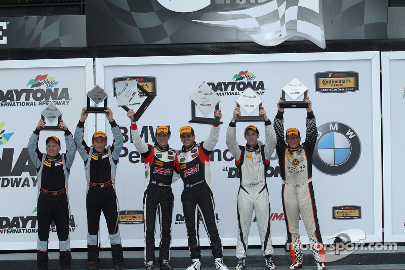 ST class podium: winners Spencer Pumpelly, Luis Rodriguez Jr.