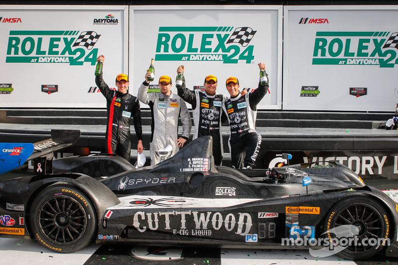 PC-Podium: #52 PR1 Mathiasen Motorsports, Oreca FLM09: Mike Guasch, Andrew Novich, Andrew Palmer, To