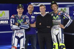 Lin Jarvis et Massimo Meregalli, Jorge Lorenzo et Valentino Rossi