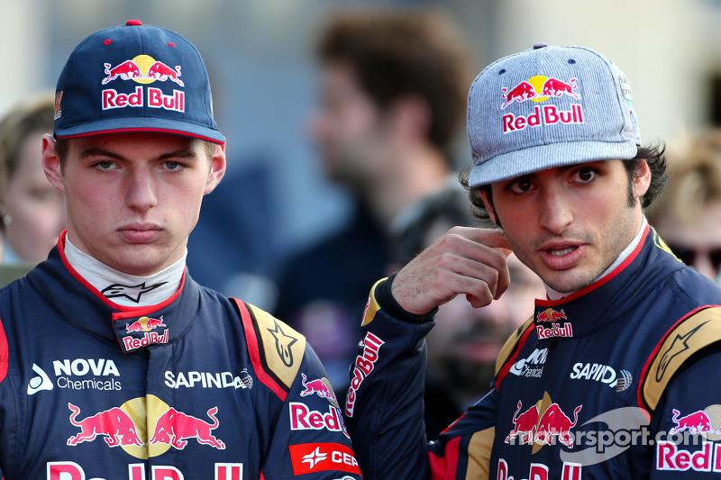 Max Verstappen, Scuderia Toro Rosso ve Carlos Sainz Jr., Scuderia Toro Rosso