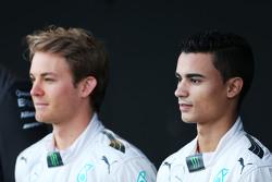 Нико Росберг и Паскаль Верляйн. Презентация Mercedes AMG F1 W06, презентация.