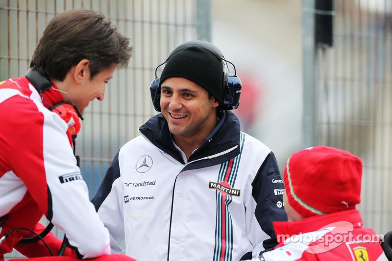 Felipe Massa, Williams, mit Massimo Rivola, Ferrari-Sportdirektor