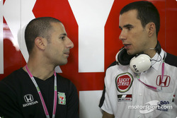 Indy Racing League 2004 champion Tony Kanaan and Enrique Bernoldi
