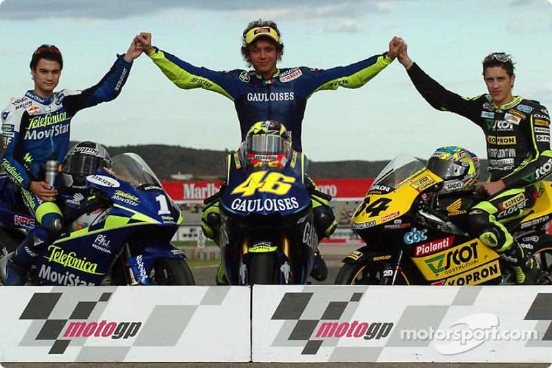 The 2004 Champions Motogp 500cc Champion Valentino Rossi With