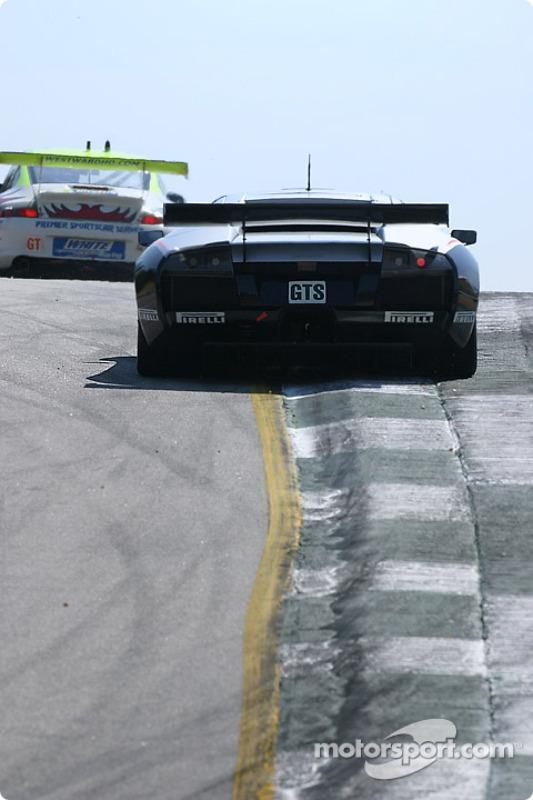 La Lamborghini Murcielago R-GT n°5 Krohn-Barbour Racing : Peter Kox, David Brabham, Nic Jonsson