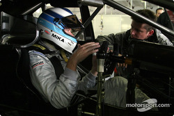 Mika Hakkinen tests the AMG-Mercedes C-Class DTM