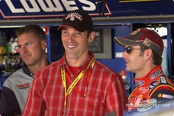 Max Papis visits Jeff Gordon