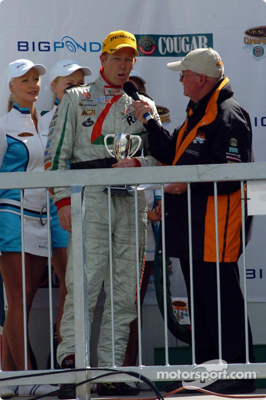 Steven Richards termine sur le podium