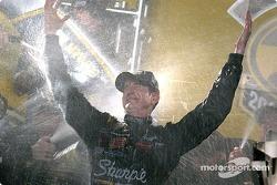 Champagne shower for Kurt Busch
