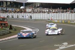 #100 WM Secateva, WM P84 Peugeot: Pascal Pessiot, Roger Dorchy, Claude Haldi, #3 Rothmans Porsche Porsche 962C: Vern Schuppan, Drake Olson