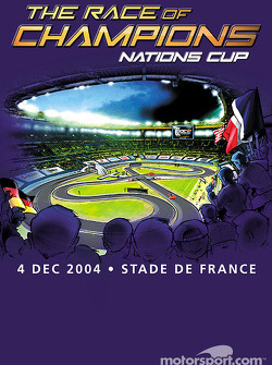 Promotional poster for the 2004 Race of Champions