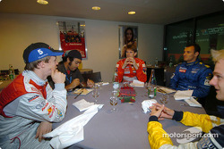 Mattias Ekström, Marcus Gronholm, Stephane Sarrazin and Heikki Kovalainen