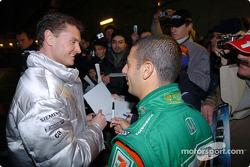 David Coulthard and Tony Kanaan