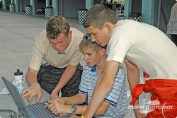Adrian Carrio, engineer Travis Braun and Brad Coleman