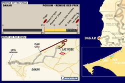 Stage 16: 2005-01-16, Dakar to podium