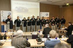 Volkswagen Motorsport's departure for Barcelona: press conference