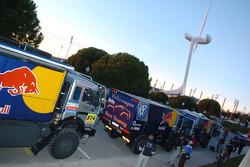 Volkswagen Motorsport assistance trucks