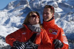 Michael Schumacher with his wife Corinna