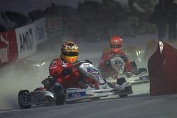 Kart race on ice: Luca Badoer