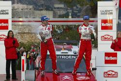 Podium: champagne for winners Sébastien Loeb and Daniel Elena