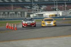 #21 Prototype Technology Group BMW M3: Chris Gleason, Ian James, Bill Auberlen, Joey Hand, #79 Newman Racing/ Silverstone Racing Ford Crawford: Paul Newman, Michael Brockman