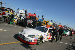 Mike Skinner pushed to pit road