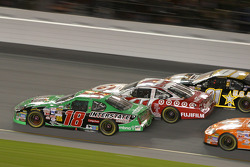 Bobby Labonte, Casey Mears and Joe Nemechek go three-wide