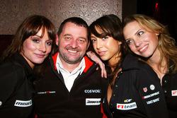 Paul Stoddart in charming company