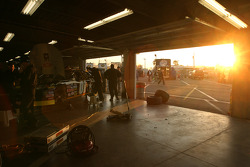 Sunrise inside garage
