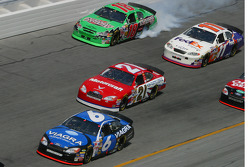 Bobby Labonte loses the engine