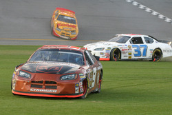 Kasey Kahne and Kevin Lepage in trouble on restart