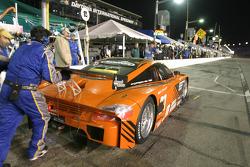 Pitstop for #29 Brumos Racing Porsche Fabcar: Tim Vargo, Josh Vargo, Jake Vargo, Brady Refenning