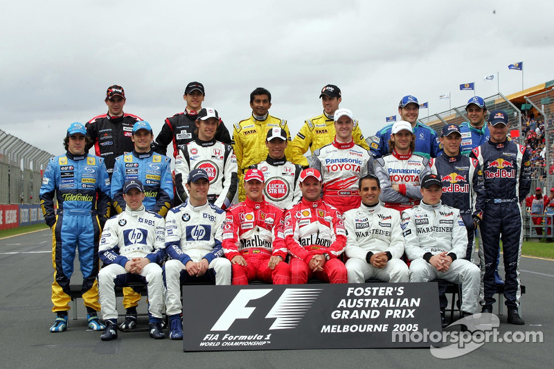 Familiefoto: de klas van 2005 in de Formule 1