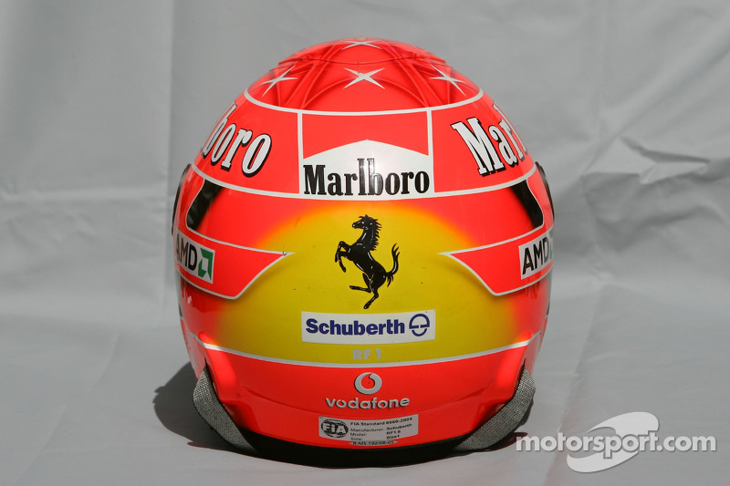 Helmet of Michael Schumacher at Australian GP