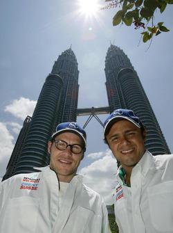 Jacques Villeneuve and Felipe Massa visit Kuala Lumpur