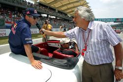 Drivers parade: Christian Klien interviewed by Bob Constanduros