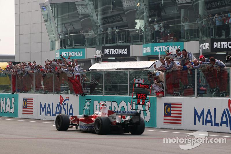 El final segundo puesto para Jarno Trulli