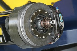 Brakes on the Red Bull car