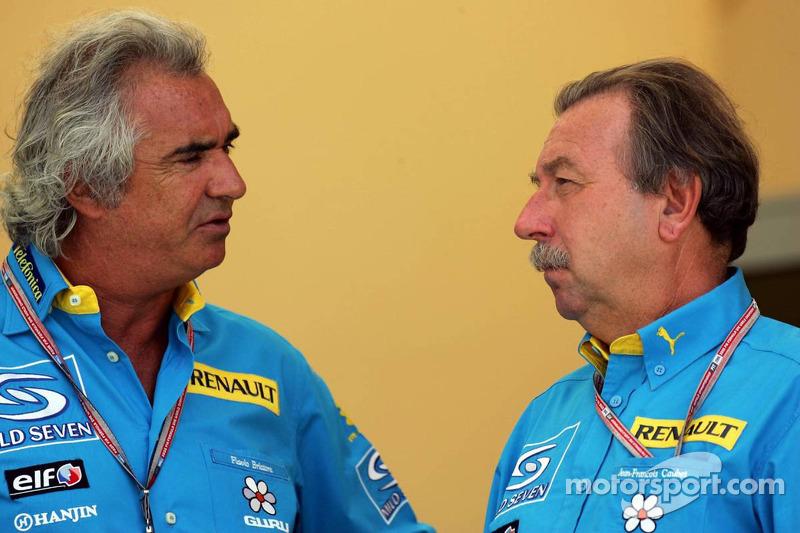 Flavio Briatore y Jean-Francois Caubet