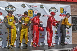 DP podium: champagne for everyone