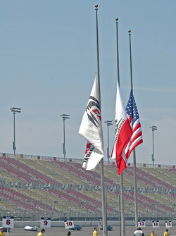 California Speedway flags at half mast in respect for the Pope