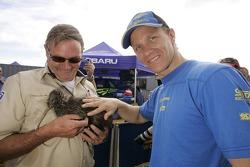 Petter Solberg meets a real live kiwi