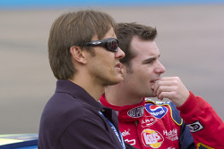 Adrian Fernandez y Jeff Gordon