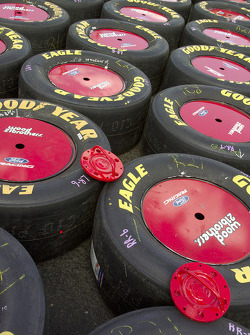 Wood Brothers tires ready to race