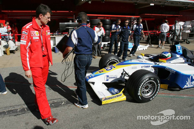 Chris Dyer looks at a GP2 car