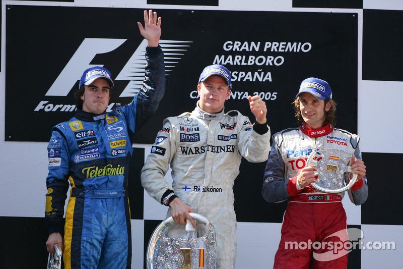 2005: 1. Kimi Raikkonen, 2. Fernando Alonso, 3. Jarno Trulli