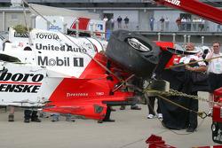 Damage to Sam Hornish Jr.'s car