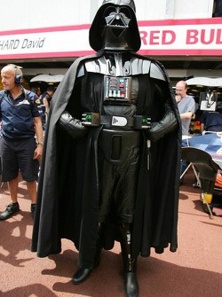 Darth Vader watches pitlane action