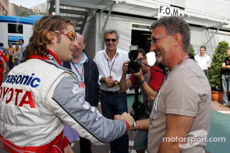 Jarno Trulli y Eddie Jordan